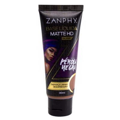 Base Líquida Zanphy - Matte HD Pérola Negra - 30