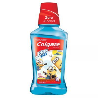 Imagem 1 do produto Enxaguante Bucal Colgate Plax Kids Minions com Flúor Sem Álcool Tutti-Frutti 250ml