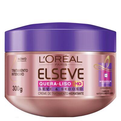 Imagem 1 do produto L'Oréal Paris Elseve Quera-Liso Leve e Sedoso - Creme de Tratamento - 300g