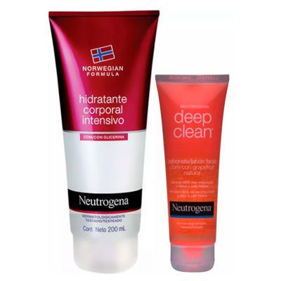 Neutrogena Deep Clean + Norwegian Kit - Sabonete Facial + Hidratante Corporal - Kit