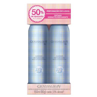 Blue Desodorante Giovanna Baby - Desodorante Aerosol - 2x 150ml