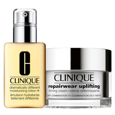 Imagem 1 do produto Clinique Gel Hidratante + Firmador Facial Kit - Dramatically Different Moisturizing Gel + Repairwear Uplifting Firming Cream - Kit