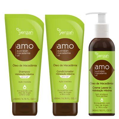 Imagem 1 do produto Kit Shampoo + Condicionador + Creme para Pentear Yenzah Amo - Kit