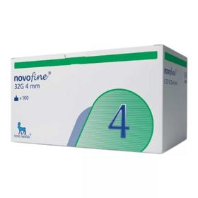 Agulha Descartável Novofine - 4mm | 100 unidades