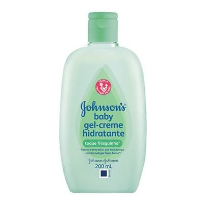 Gel-Creme Hidratante Infantil Johnson's Baby Toque Fresquinho 200ml