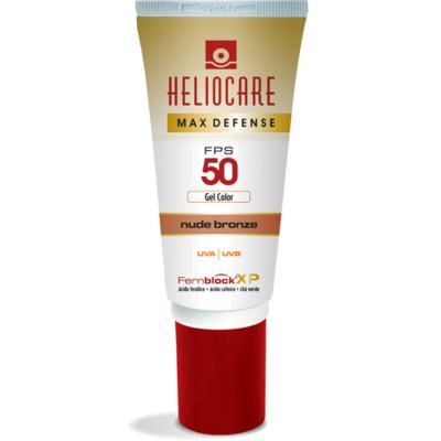 Max Defense Gel Color Heliocare - Protetor Solar - Nude Bronze