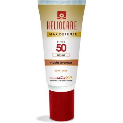 Imagem 1 do produto Max Defense Gel Color Heliocare - Protetor Solar - Nude Bronze