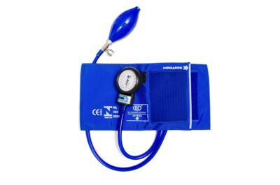 Kit Esteto Spirit Pro-Lite Azul Royal com Aparelho de Pressão Bic Azul Royal