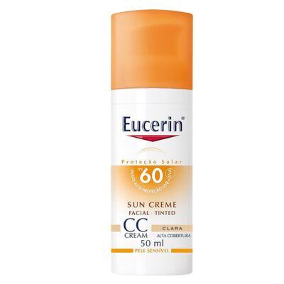 Imagem 1 do produto CC Cream Sun Creme Tinted FPS60 Eucerin - Protetor Solar - Clara