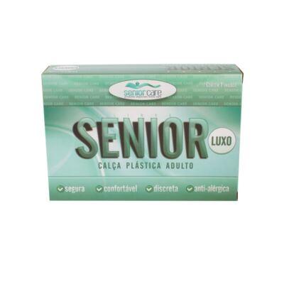 Calça Plástica Bege Sem Botão Senior Care - GG