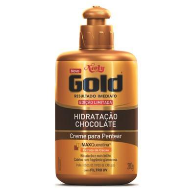 Imagem 1 do produto Creme de Pentear Niely Gold Hidratação Chocolate com 280g