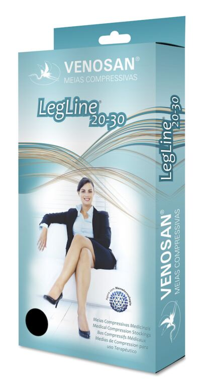 Imagem 2 do produto Meia Panturrilha AD 20-30 Legline Venosan - PONTEIRA ABERTA OLINDA P