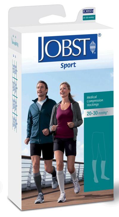 Imagem 1 do produto Meia Panturrilha 20-30 mmHg Sport Jobst - BRANCO PONTEIRA FECHADA P