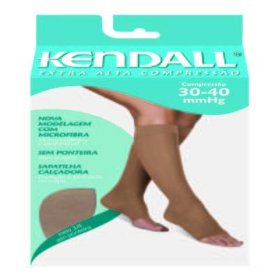 Imagem 1 do produto Meia Panturrilha Extra Alta 30-40 mmHg Kendal - MEL PONTEIRA ABERTA M