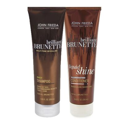 Imagem 1 do produto Kit Shampoo + Condicionador John Frieda Brilliant Brunette Liquid Shine - Kit