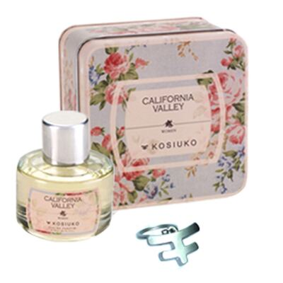 California Valley Eau de Parfum Kosiuko - Kit de Perfume Feminino + Chaveiro - 50ml