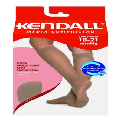 Imagem 1 do produto Meia Panturrilha 18-21 mmHg Média Kendall - CASTANHO PONTEIRA FECHADA M