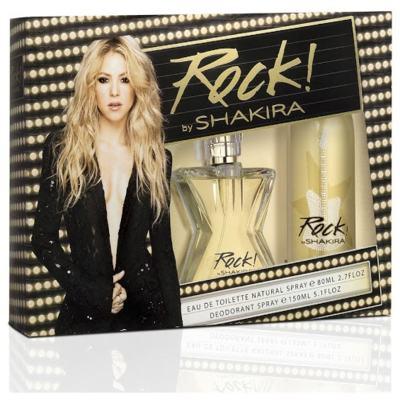 kit Rock by Shakira Eau de Toilette Feminino - 80 ml + Desodorante Spay 150 ml Kit