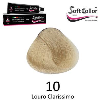 Coloracao Profissional SOFTCOLLOR PERFECT 60g - Cores: Louro Clarissimo - Nuance 10 Louro Clarissimo