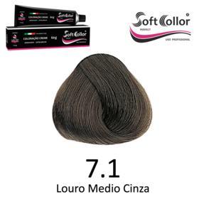 Coloracao Profissional SOFTCOLLOR PERFECT 60g - Cores: Louro Médio - Nuance 7.1 Louro Medio Cinza