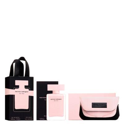 Imagem 1 do produto Narciso Rodriguez For Her Narciso Rodriguez - Feminino - Eau de Parfum - Perfume + Nécessaire - Kit