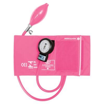Kit Esteto Spirit Pro-Lite Rosa Transparente com Aparelho de Pressão Bic Rosa
