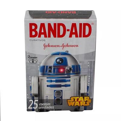 Imagem 2 do produto Curativos Band Aid Johnson & Johnson Decorados Star Wars 2 Tamanhos 25 Unidades