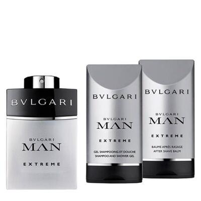 Imagem 1 do produto BVLGARI Pour Homme Extreme BVLGARI - Masculino - Eau de Toilette - Perfume + Gel de Banho + Loção Pós Barba - Kit