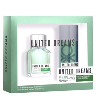 Kit United Dreams Be Strong by Benetton Eau de Toilette Masculino - 100 ml