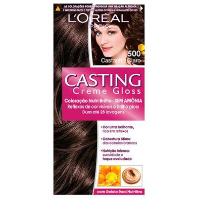 Imagem 1 do produto Coloração Casting Creme Gloss L'Oréal Paris - 500 Castanho Claro