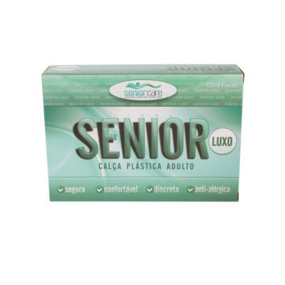 Calça Plástica Bege Com Botão Luxo Senior Care - G