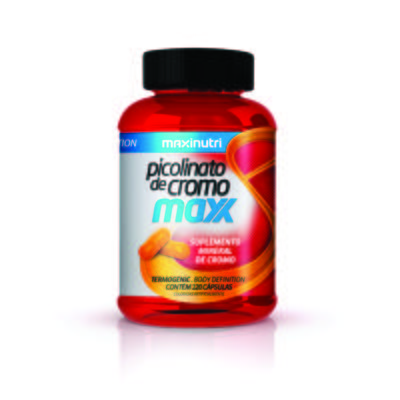 Imagem 1 do produto Picolinato de Cromo Maxx 120Cps - Maxinutri - 120Cps