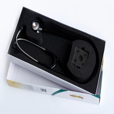 Imagem 3 do produto Kit Esteto Cardiológico Preto com Aparelho de Pressão Preto Premium