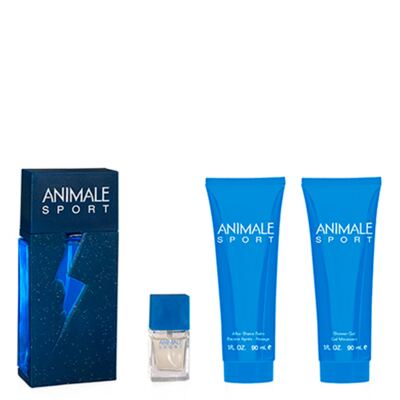 Animale Sport Animale - Masculino - Eau de Toilette - Perfume + Miniatura + Pós Barba + Gel de Banho - Kit