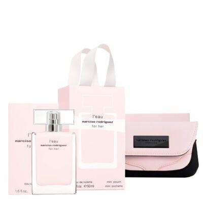 L'eau For Her Narciso Rodriguez - Feminino - Eau de Toilette - Perfume + Nécessaire - Kit