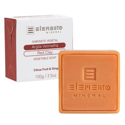 Imagem 1 do produto Sabonete em Barra Elemento Mineral - Argila Vermelha - 100g