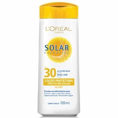 Protetor Solar L'Oréal Paris Solar Expertise Loção Protetora FPS 30 - 120ml
