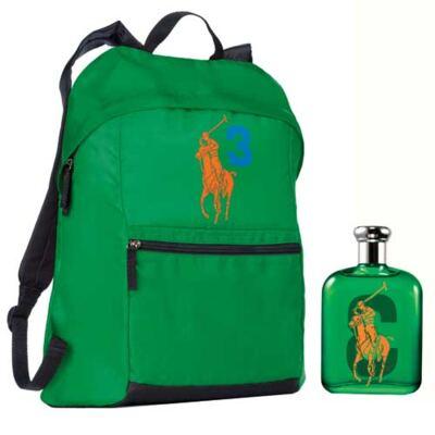 Polo Big Pony 3 Ralph Lauren - Masculino - Eau de Toilette - Perfume + Mochila - kit