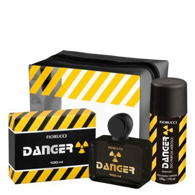 Imagem 1 do produto Danger Fiorucci - Masculino - Deo Colônia - Perfume + Desodorante Spray + Necessaire - Kit