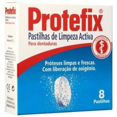 Protefix Pastilhas de Limpeza para Dentaduras 8 unidades