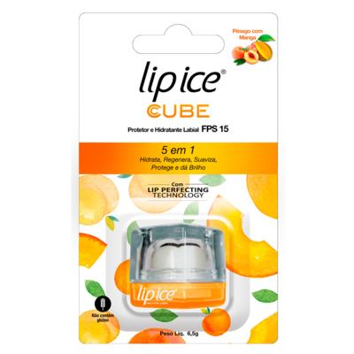 Protetor e Hidratante Labial Lip Ice FPS15 - Pêssego Com Manga | 6,5g