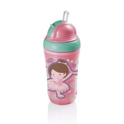 Copo Térmico Com Canudo De Silicone Cool Rosa 24M+ Multikids Baby - BB035 - BB035