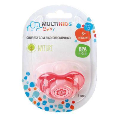 Imagem 4 do produto Chupeta Nature Pp Rosa Ortoflex Tam 2 (6-18 M) Multikids Baby - BB134 - BB134