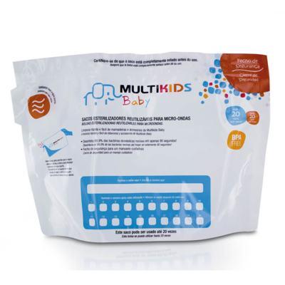 Imagem 3 do produto Saquinhos Para Esterilizar No Microondas 6Pcs Multikids Baby - BB157 - BB157