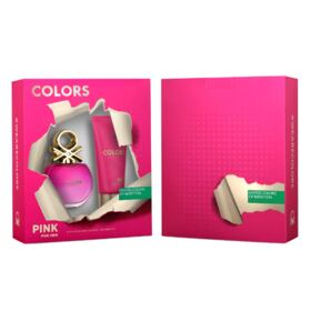 Benetton Colors Pink Kit - EDT 80ml + Body Lotion - Kit