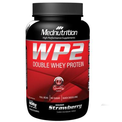 Wp2 Double Whey Protein 908G - Wp2 Double Whey Protein 908G Strawberry