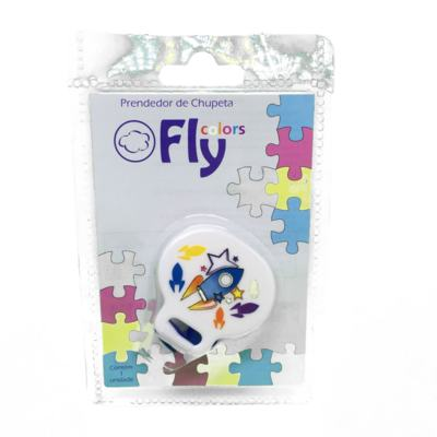 Prendedor de Chupetas Fly Colors Decorada 1 unidade
