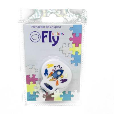 Imagem 2 do produto Prendedor de Chupetas Fly Colors Decorada 1 unidade -