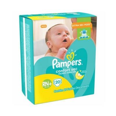 Imagem 1 do produto Fralda Pampers Confort Sec Recém-Nascido RN+ 20 Unidades