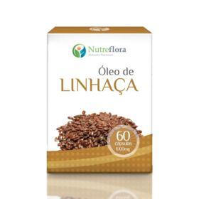 Óleo de Linhaça - 1000 mg - 60 cápsulas - Nutreflora -